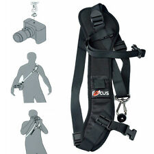 1 PC Quick Rapid Camera Single Shoulder Sling Black Strap for DSLR Camera New