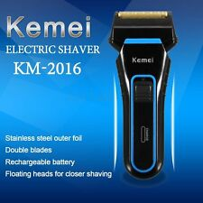 KEMEI Men's Cordless Electric Dual Foil Shaver Rechargeable Beard Razor Trimmer