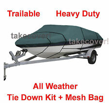 Crestliner 1650 Fish Hawk Boat Cover CQ Trailerable All Weather B3695G