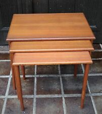 MID CENTURY DESIGN-Denmark vintage 60s Nesting table 3er set teck tables ~ 60er