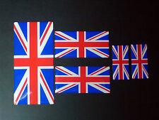 Union Flag/Jack Resin Domed Decal / Gel Sticker SET OF 5 Free P&P