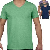 Gildan Herren V-Neck T-Shirt V-Ausschnitt Shirt S M L XL XXL