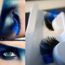 Stylish Blue Long Curly False Eyelashes Eye Lashes Halloween Party Stage Makeup