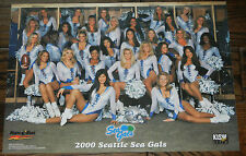2000 Seattle Seahawks Seagals Cheerleaders Poster NFL Extremely Rare!