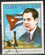 Famous World Chess Grand Master José Raúl Capablanca stamp 1988
