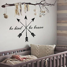 Arrows Wall Decal Quote Sticker Be Kind Be Brave Wall Decals for Baby Art Ah120