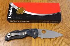 NEW Spyderco C41SBK5 Native 5 Folding Knife Serrated CPM S35VN Blade, FRN USA