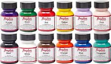 Angelus Leather Paint Starter Kit 1 Set of 12 bottles  - each 1.0oz Bottles