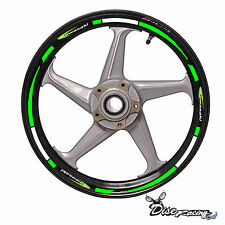 Pegatina vinilo Moto Vinyl sticker Kawasaki Team racing llantas wheel rim strip