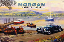 Morgan, Classic British Sports Car, Lake District Country, Small Metal/Tin Sign