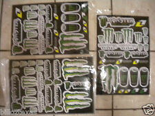 3 DOUBLE SIZE pages MONSTER ENERGY DRINK DECALS STICKERS   FREE SHIPPING *FAST*