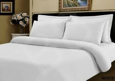 400 Thread Egyptian Cotton DOUBLE Bed Size Duvet Cover Quilt Bedding Set WHITE