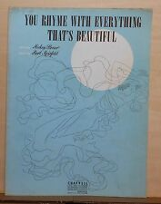 You Rhyme With Everything That's Beautiful - 1943 sheet music