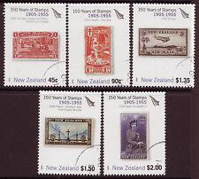 NUOVA Zelanda 2005 150 anni della Nuova Zelanda timbri set di 5, belle USATO
