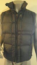 BURTON Lava Men's Puffer Goose Down Vest Jacket Coat Size LARGE Black EUC.