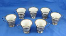 Set of Seven (7) Lenox Demitasse Cups with Gorham Sterling Holders