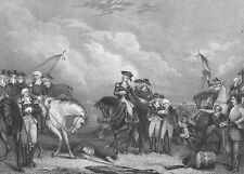 Revolutionary War, BATTLE OF TRENTON NJ ~ Antique Old 1870 Art Print Engraving