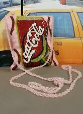 SPECIAL COCA-COLA COKE COCA~COLA HAND BEADED INCREDIBLE CROSSBODY PURSE HANDBAG