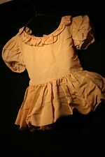 Antique Baby Dress Toddler Fade Pink Ruffled Attached Crinoline Hook Eye Closure