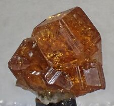Garnet HESONITE Grossular Mineral Specimen Crystal Jeffrey Mine Asbestos Quebec