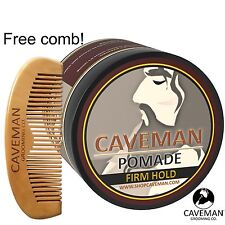 Handcrafted Caveman® POMADE FIRME (STRONG) HOLD Rockabilly 4oz. + FREE Comb