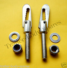 FREE 1st Class Post - 2 x Stainless Steel M8 x 38mm Antiluce Trailer Fastener