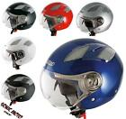 Casco Moto Demi Jet Avio Visiera ECE 22-05 Scooter Quad Custom ATV