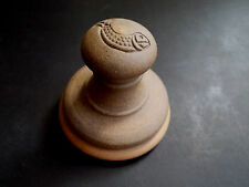 KITCHEN EARTHENWARE STONE GRINDER PESTAL WITH FISH PATTERN HAND MADE (ref42)