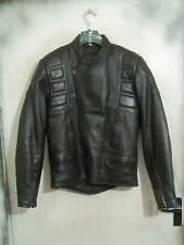 VINTAGE 80'S BELSTAFF LEATHER TWIN TRACK MOTORCYCLE JACKET SIZE 42