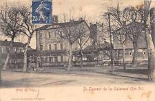 CPA 66 SAINT LAURENT DE LA SALANQUE HOTEL DE VILLE (cliché pas courant
