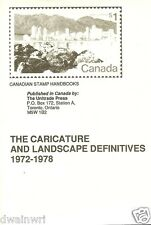 "Canadian Stamp Handbooks""The Character & Landscape Definitives"" by Michael Milos"