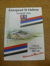 12/12/1987 Rugby Union Programme: Liverpool St Helens v Coventry.  Any faults wi