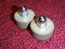 FEDERAL SIGNAL VINTAGE LIGHT BAR RUBBER MOUNTING FEET & HARDWARE SET OF 2 *RARE*