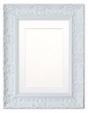 Wide Ornate MUSE Picture Photo Frame Poster Frame with Bespoke Mount WHITE/ MATT