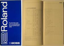 Roland boss catalogue de 1994-présentation du produit avec des prix