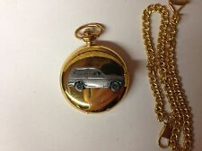 Reliant Kitten Estate ref204 pewter effect car on a Gold Quartz Pocket Watch