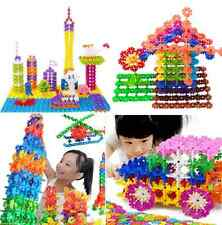 100Pcs New Child Kid Plastic Multicolor Snowflake Building Educational Toy Smart