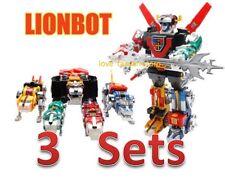 DHL (X3 Sets)-New Voltron Lionbot (TW) 1980 Chogokin Die-Cast Metal 5 in 1 Robot
