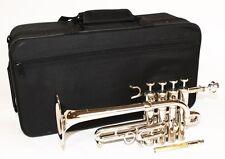 Cherrystone Piccolo Trompete silber mit Koffer und Zubehör