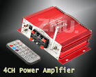 New 160W 4CH CHANNEL AUDIO STEREO FOR iPOD MOTOR HOME CAR FM MP3 AMPLIFIER AMP