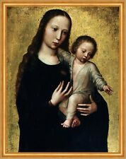 The Virgin Mary with the Child Jesus in a Shirt Benson Maria Religion B A2 00446
