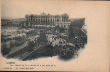 ANTIGUA POSTAL MADRID OBRAS ALMUDENA Y PALACIO REAL  HAUSER&MENET TIENDA CDC1172