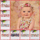 Baby Girls Floral Flower Bow Hairband Turban Knot Rabbit Headband Accessories A