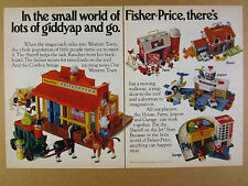 1983 Fisher-Price Western Town Farm House Jetport & Garage toys vintage print Ad