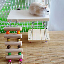 Flexible Wooden Toys Rat Mouse Hamster Parrot Hanging Ladder Bridge Shelf Cages