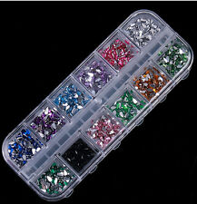 Make-up Nail Art Rhinestones Glitters Acrylic Tips Manicure Wheel 1200 PCS Gift