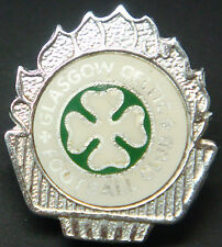 CELTIC FC Vintage 1970s 80s insert type badge Brooch pin In chrome 31mm x 35mm