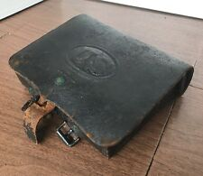 1860 US ARMY ORIGINAL Cartridge Box SH Young & Co Newark NJ Leather w/ Tins