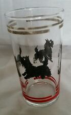 Vintage Scotty Dog Glass Tumbler Juice Small Beverage Great Graphics