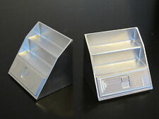 Pair Aluminum Side Step Tool Box look for Tamiya 1/14 Semi King Knight Hauler